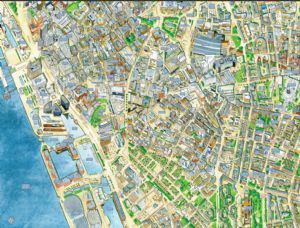 Cityscapes Street Map Of Liverpool 400 Piece Jigsaw Puzzle 470mm x 320mm (hpy)